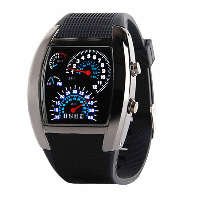 Watch Dashboard Sports-Belt Electronic-Clock Racing-Fan Digital Creative Top-Brand Men's