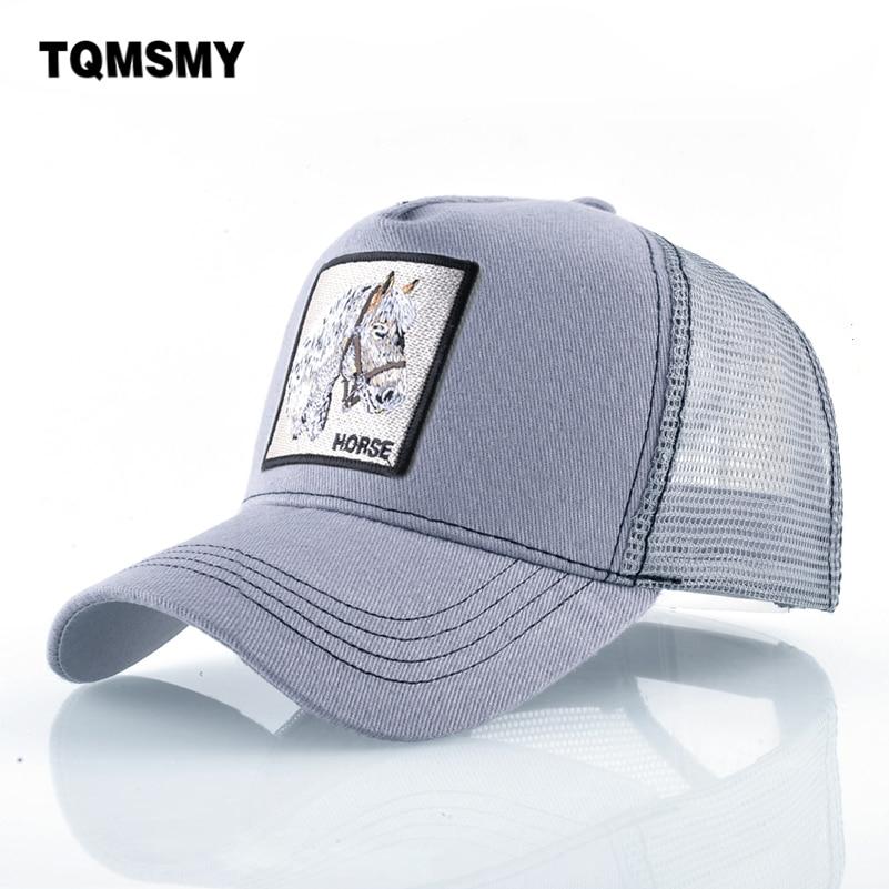 Cotton Snapback   caps   for men Hip Hop   cap   Embroidery Horse pattern   Baseball     Cap   Breathable Mesh Bone sun hats for man Hip Hop   cap