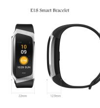 E18 Smart Band Heart Rate Monitor Color Touch Screen Waterproof Blood Pressure Oxygen Sport Bracelet Fitness Mi 2 3 4