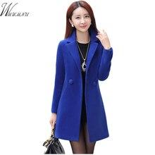 2017 Hot Sale Woman Wool Coat High Quality Winter Jacket Women Slim Woolen Long Cashmere Coats Elegant Blend 5 ss170