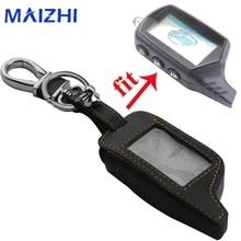 все цены на 3 Buttons Leather Key Case Cover Key Bag For Starline B9 Twage Two Way Car Alarm System Keychain онлайн