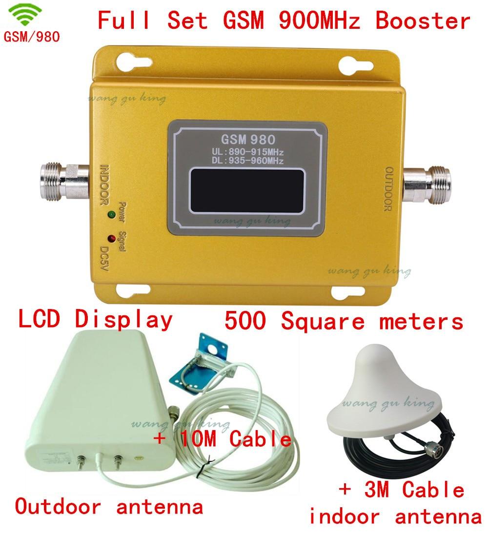High Power Full Set 2G GSM Cellular Signal Repeater Signal Booster GSM 900 Mhz Cellpone Signal Repeater Gsm Booster Amplifier