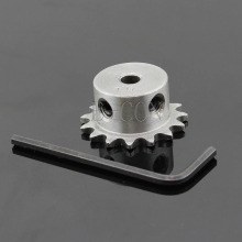 1 шт. 8 мм диаметр 15 зубьев 15 т Металл пилот мотор шестерни роликовый цепной привод звездочки