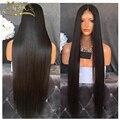 Grado superior 7A Sin Procesar peluca del frente del cordón glueless 150 densitysilky recta peluca llena del cordón del pelo humano en venta grande