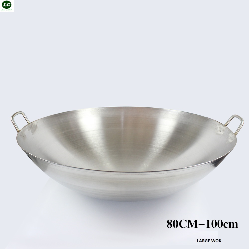 100cm Wok Stainless Steel Wok Pan Cooking Wok Cookware Utensil Commercial  Use Frying Pan Cooking Pot In Woks From Home U0026 Garden On Aliexpress.com |  Alibaba ...