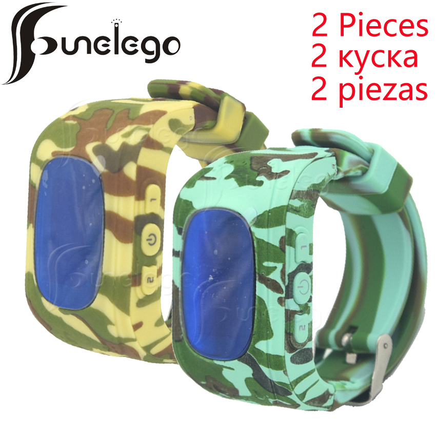 Funelego 2 Pcs GPS Tracker For Kids Q50 Smart Watch For Child Camouflage Color Electronic Anti-Lost With SIM Card Phone Watches smart baby watch q60s детские часы с gps голубые