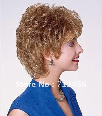 100 Human Hair Wig Western Style Suitable For Middle Aged Lady