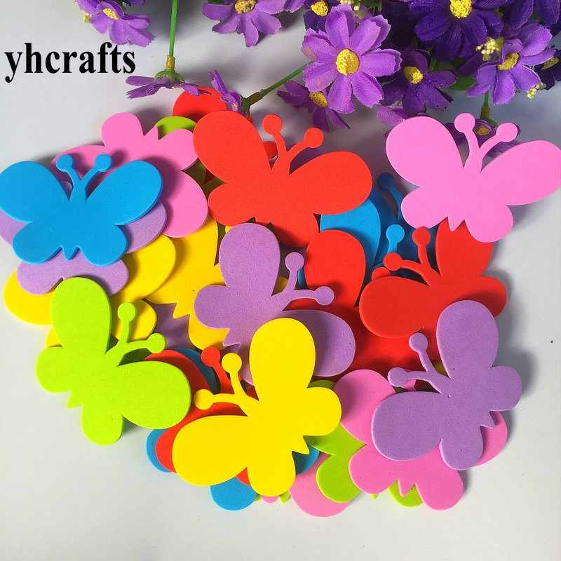 30PCS/LOT Foam butterfly without stickers Creative activity kit Wall stickers Kids room ornament Early learning educational toy