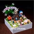 Doraemon Nobita Nobi Minamoto Shizuka Konta Takeshi  сделай сам  мох  микропейзаж  пластиковая фигурка  игрушка  рождественский подарок  коробка D750