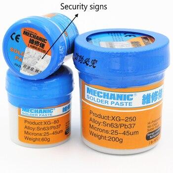 цена на XG-80 XG-Z240 XG-250 Welding Flux Solder Paste Tin Cream SMT Sn63/Pb37 for PCB BGA SMD Electric Soldering Station for Soldering