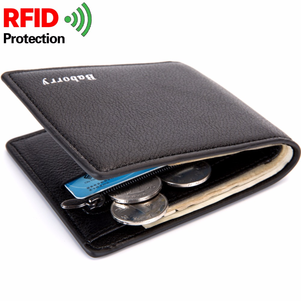 цена With Coin Bag Zipper RFID New Men Wallets Thin Mens Wallet Small Money Purses Wallets New Design Dollar Price Slim Men Wallet