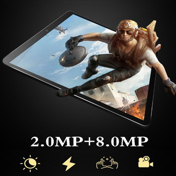 10.1 inch 3G 4GLTE Phone Call Tablets Octa Core Tablet pc Android 9.0 Tablet 4G ram+64G rom WiFi GPS Dual SIM pc tablet FM GPG 1