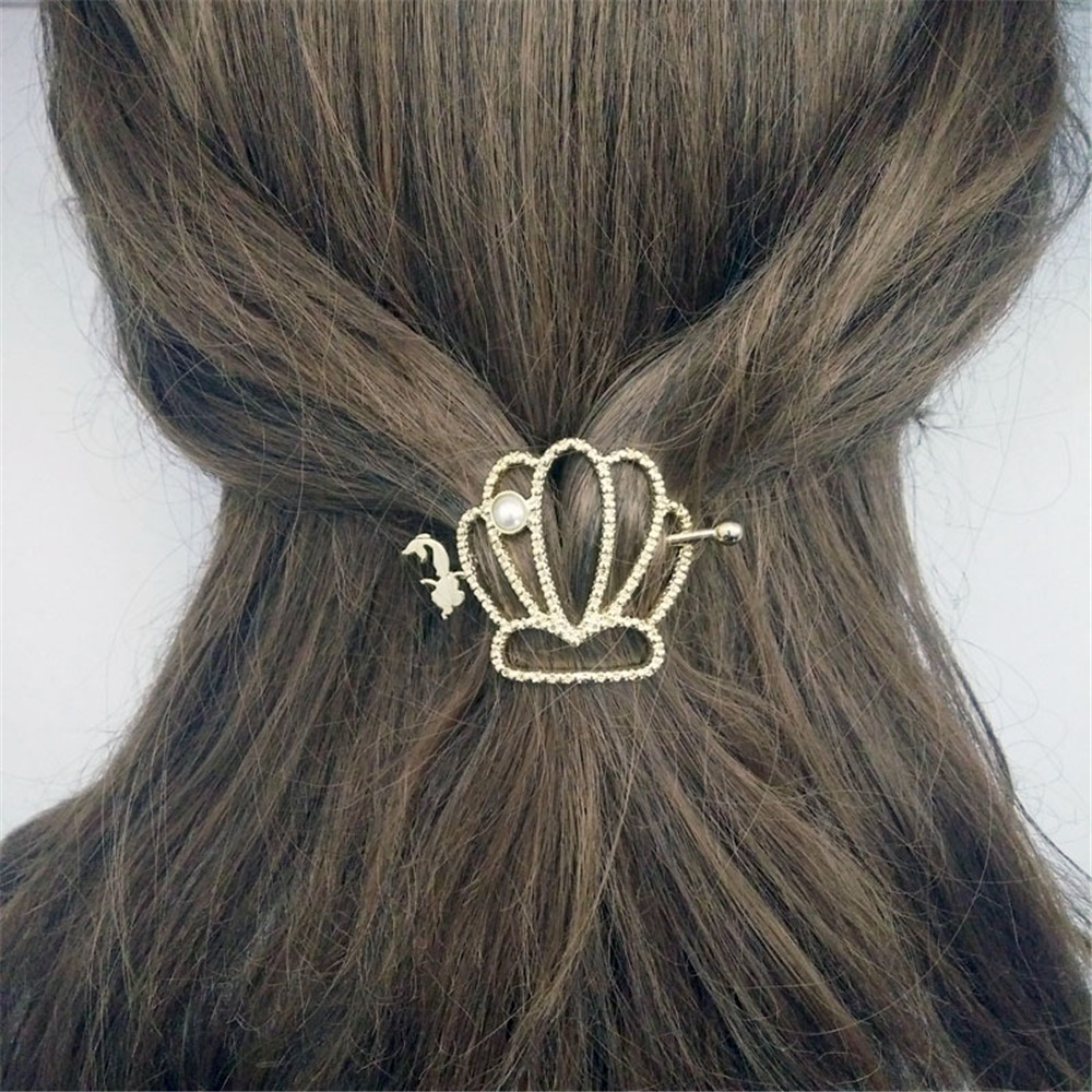 Europe United States Japan and South Korea popular hair ornaments crown inlay