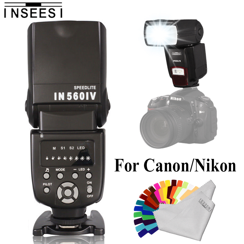 INSEESI IN560IV OR IN586EX II TTL HSS Wireless Flash Speedlite For Canon 5D 60D 7D 700D and Nikon D80 D7000 D5100 DSLR Cameras