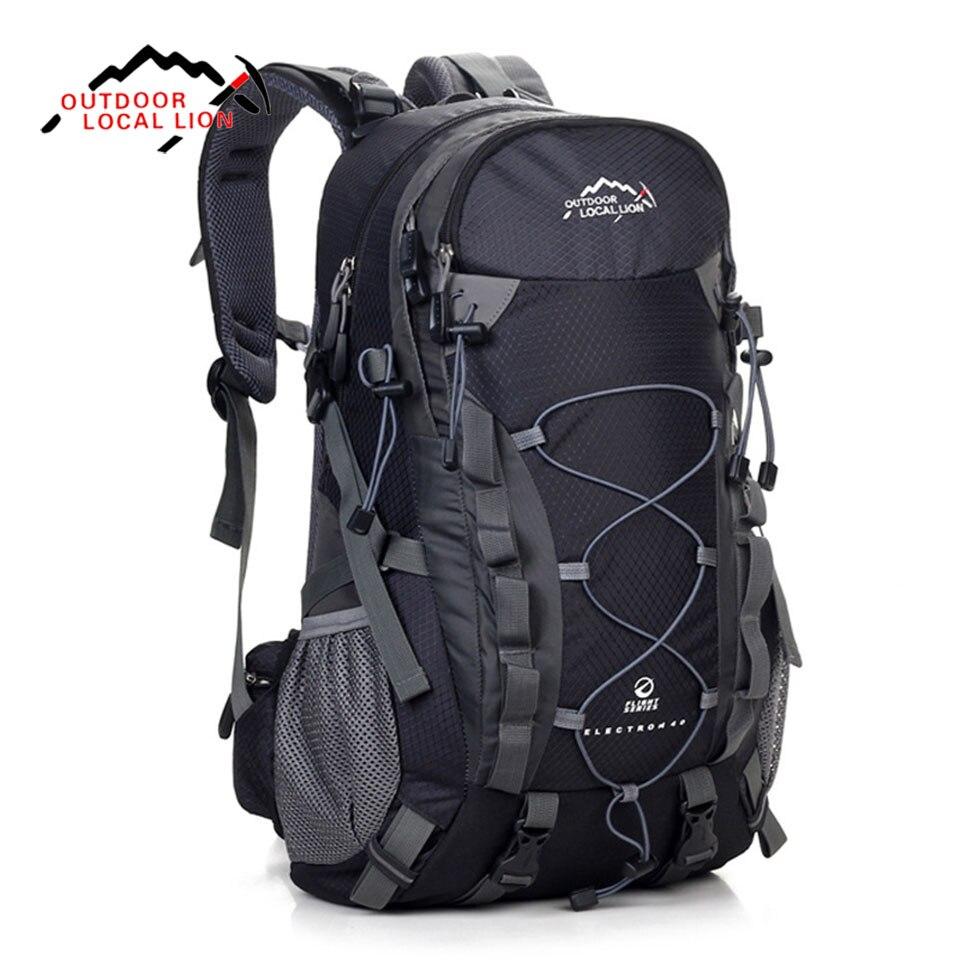 LOCAL LION Outdoor Sports Bag 40L Mountaineering Backpack Functional Men Women Bag Bolsas Femininas Hiking traveling Bag