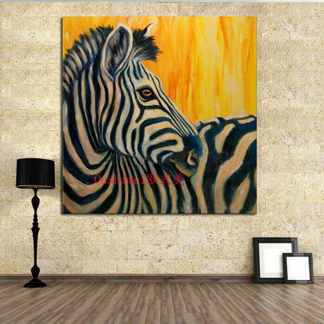 Aliexpress.com : Buy Funny Zebra Canvas Oil Painting Best ...