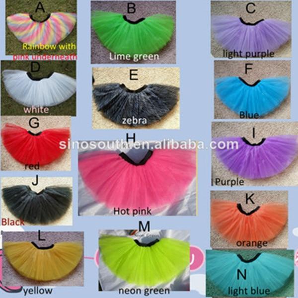 Wholesale Rainbow Tulle Running Tutu Women Dance Cheap 3 Layer Plus Size Tutu Skirts
