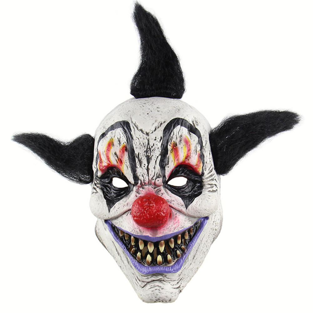 Cosplay Halloween Horror Sorcerer Crazy Clown Mask Scary Adult Latex Mask Ghost Disgusting Mask Haunted House Props