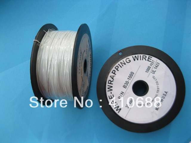 1 roll 1000ft 30AWG Wire Wrapping Wire Sliver Plated Copper White ...