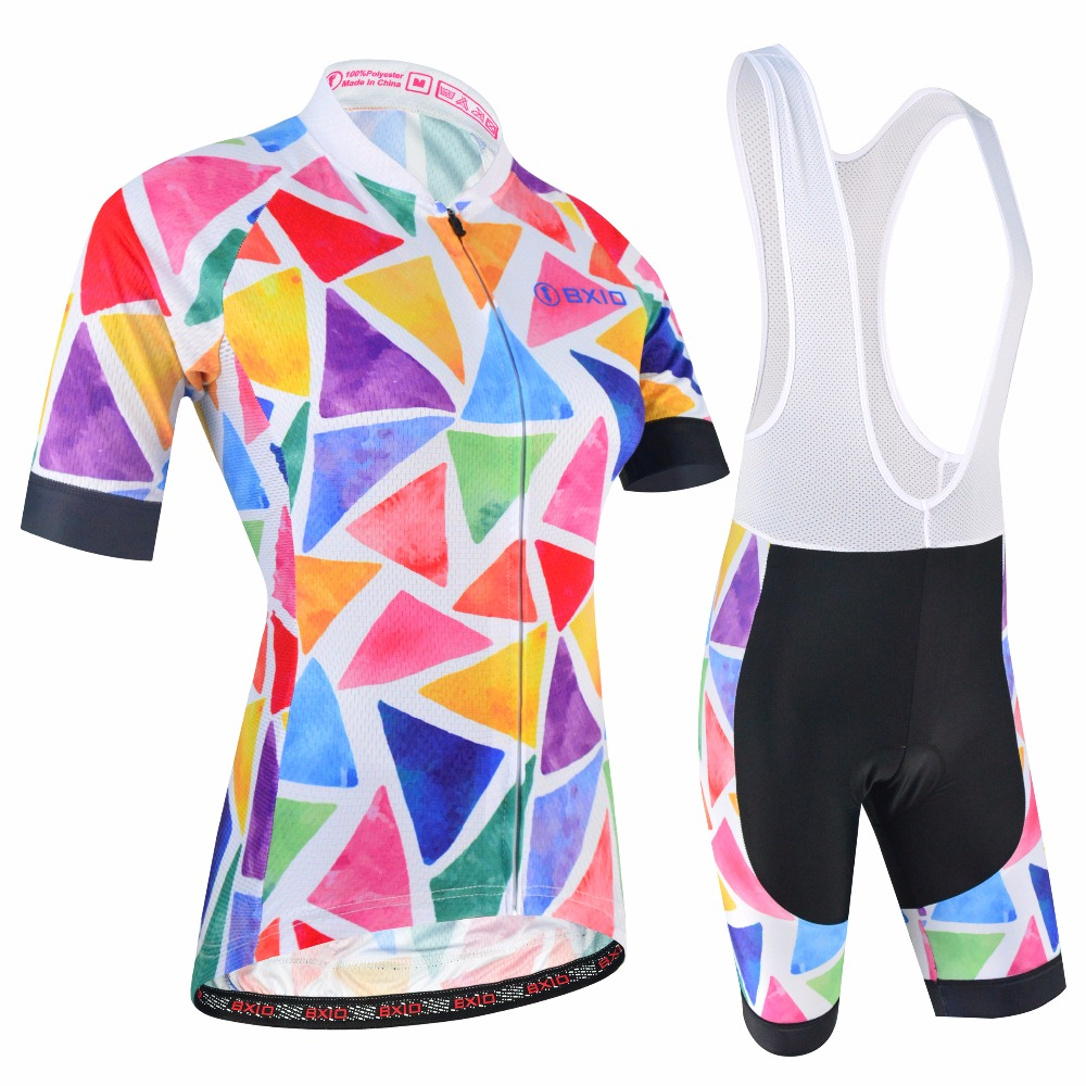 BXIO Women Cycling Clothing Gel Pad Locking With Double Lycra For Cuffs Breathable Material For Two Sides Of Cycling Jerseys 181