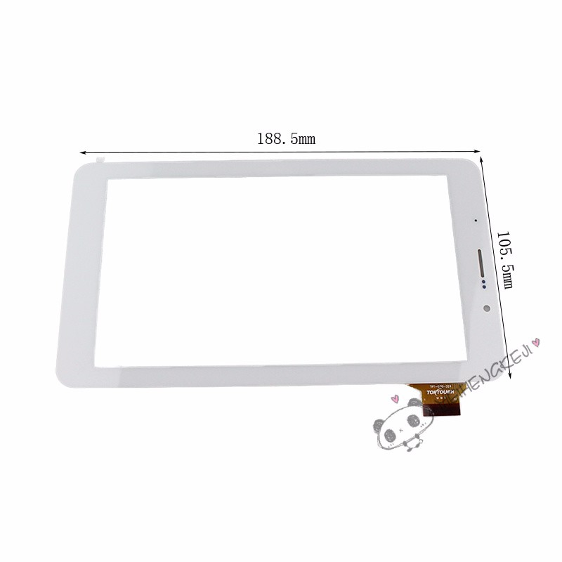 New Digitizer 7 Inch Touch Screen Front Glass Panel For Turbopad 722 White