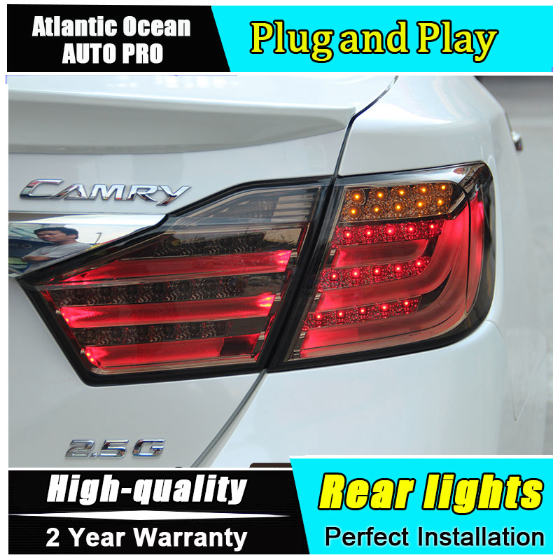 Car Styling 2012-2014 Camry V50 Taillights Camry LED Tail Lamp Rear Lamp DRL+Turn Signal+Brake+ Fog Light For 1Pair 4PCS union car styling for toyota camry tail lights 2012 2014 camry v50 led tail light aurion rear lamp drl brake park signal