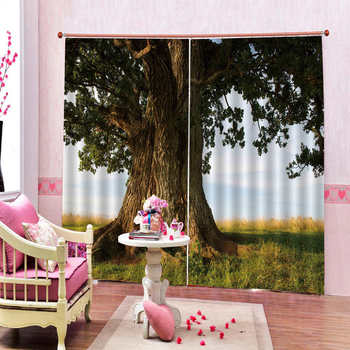 Lush forest trees and beautiful scenery Practical Blackout Curtains In The Living Room Bedroom