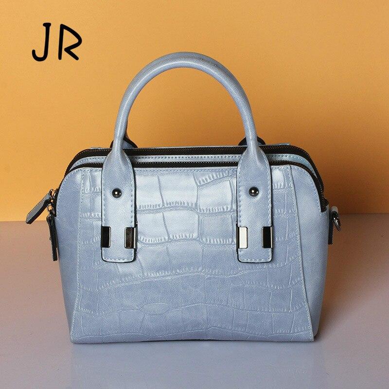 JR2017 original new crocodile pattern cowhide bag fashion trend leather shoulder oblique cross package hand ladies bag wholesale winnwell gx 4 jr shoulder pads