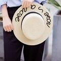 2016 moda De Alta Calidad Dom Sombreros para Las Mujeres Sombrero de Playa de Verano Gorras Mujeres Moda Fresco Popular Carta