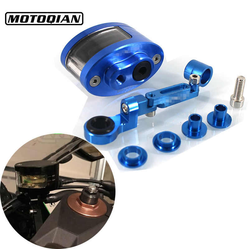 For Suzuki DL650 DL1000 DL250 V-Strom SFV650 Accessories Universal Motorcycle Brake Fluid Reservoir Clutch Tank Oil Fluid Cup universal motorcycle brake fluid reservoir clutch tank oil fluid cup for mt 09 grips yamaha fz1 kawasaki z1000 honda steed bone