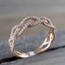 IPARAM новое кольцо из розового золота с цирконием и геометрическим узором, модное женское Роскошное дизайнерское кольцо с вырезами для свадебной вечеринки, подарок