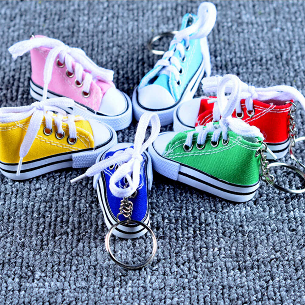 ... YITING 1PC Colorful Women s Shoes Key Chains for Lovers Small Canvas  Shoes Car Keychain Silver Plated ... 7761116227