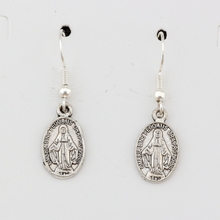 3pairs/lot Catholic Icon Religious Medal San Benito Charm Earrings silver Fish Ear Hook  Antique Chandelier Jewelry DIY