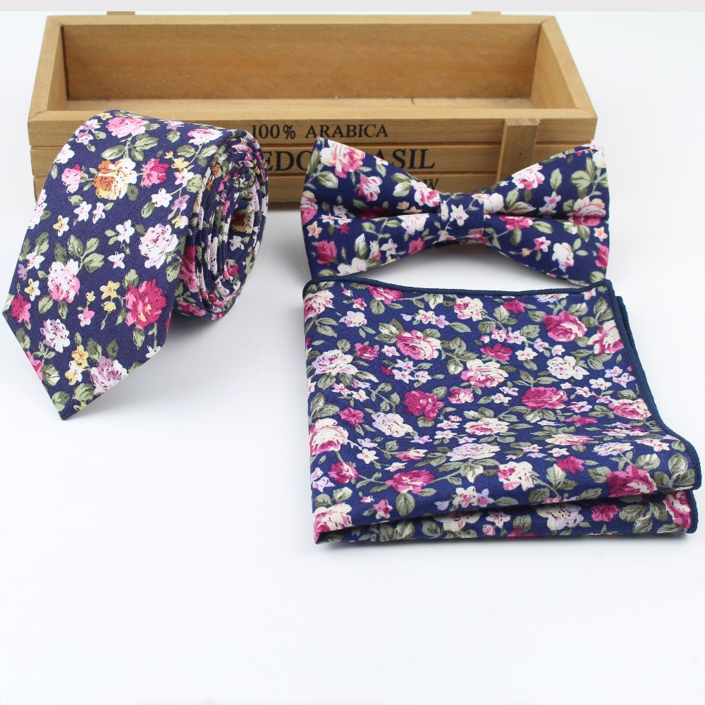 2018 New Style Mens Designer Skinny Flower Rose Paisley Pocket Square Handkerchief  Butterfly Bow Tie Ties Set Lots