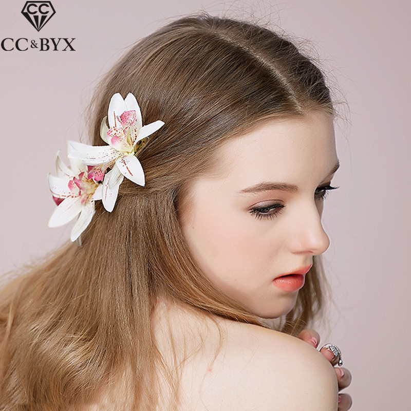 Cc Jewellery Hair Barrette Hairpins Marriage ceremony Hair Equipment For Girls Tiara Headwear Handmade Flowers Romantic Wonderful Presents O511
