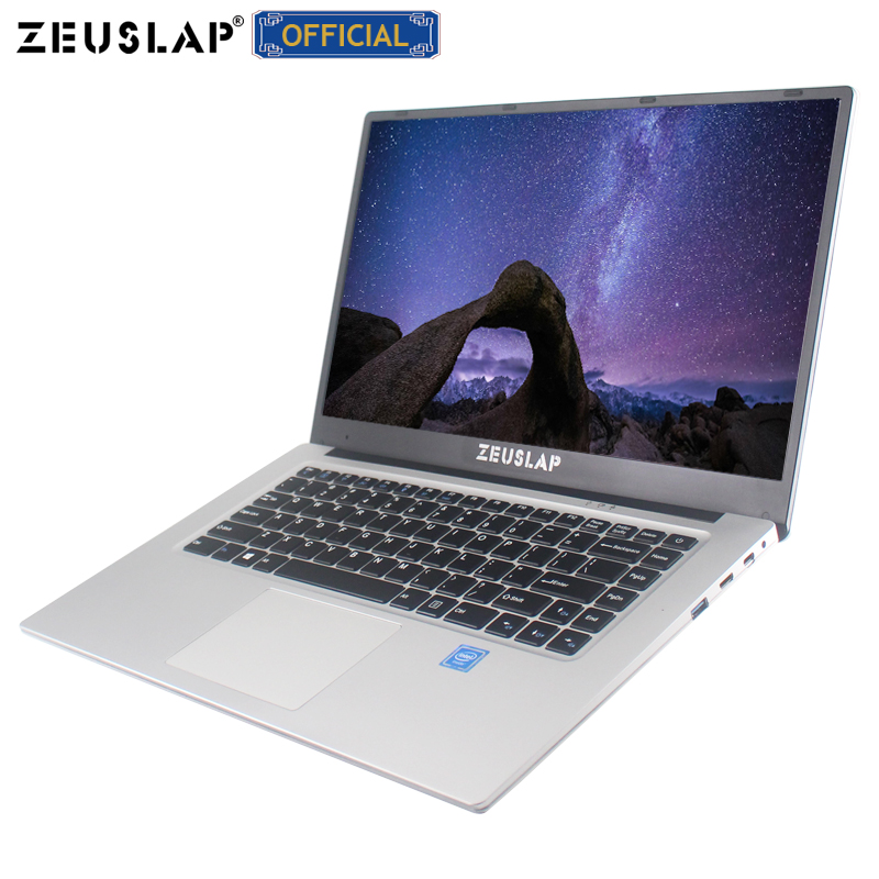 ZEUSLAP 15.6 polegada 1920*1080 P IPS Tela 64 6 gb ram gb 128 gb 256 gb 512 gb ssd win 10 barato Netbook Computador Portátil Notebook