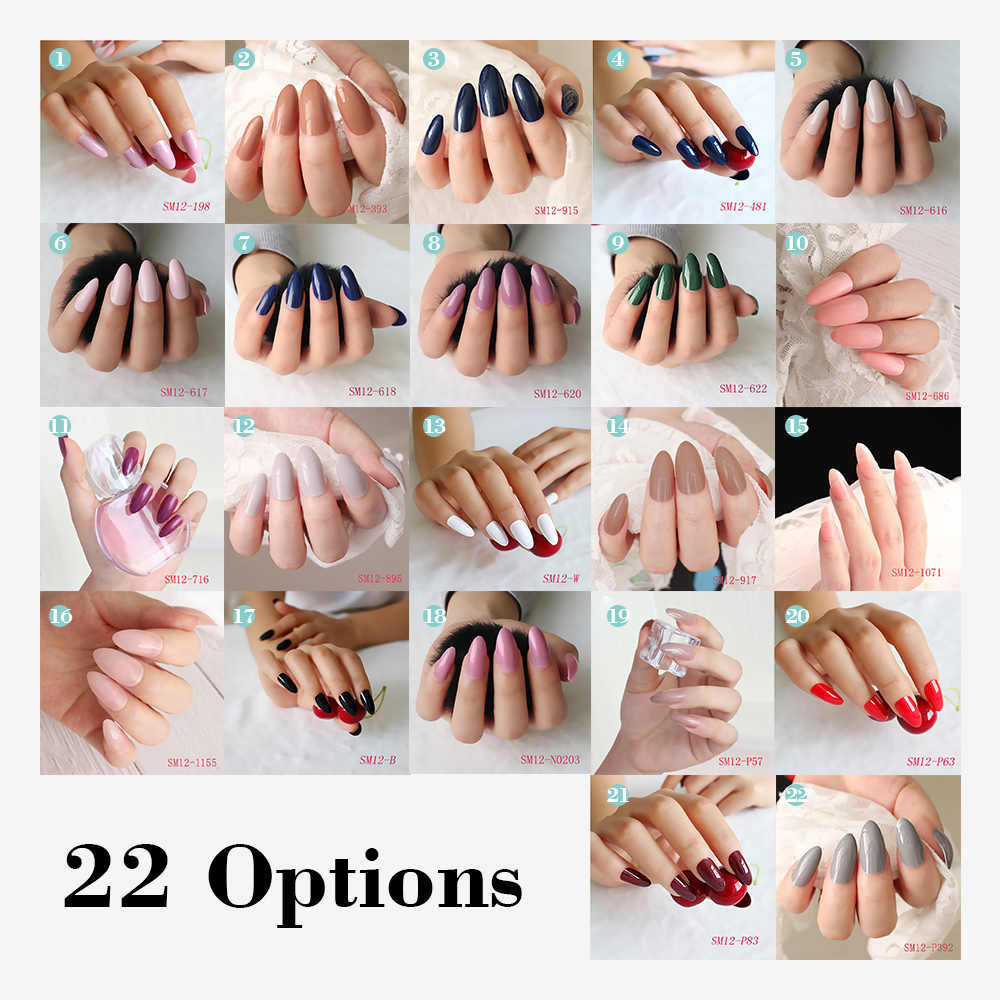 Fake Nails Tips 24pcs Natural Short False Nails Tips Full Cover Acrylic Artificial Nails for Nail Salons DIY Nail Art Tool