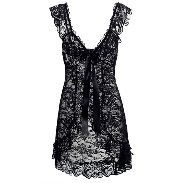 Lace Nightwear Nightgown + G String Babydoll