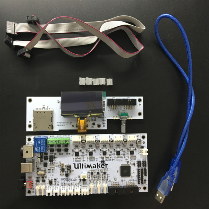 1kit 3D printer Ultimaker v2.1.1 v2.1.4 motherboard + LCD control panel set / 3D printer Ultimaker 2 LCD control motherboard kit