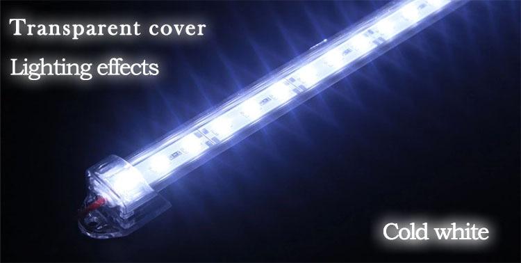 10 pcs 30cm 5630 5730 DC12V hard rigid bar strip with U aluminum profile shell channel housing cabinet light kitchen light