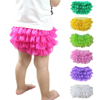 2016 Wholesale Hot Sale Solid Baby Cotton Ruffle Bloomers Layers Diaper Cover Newborn Lace Shorts Toddler Cute Summer Pants