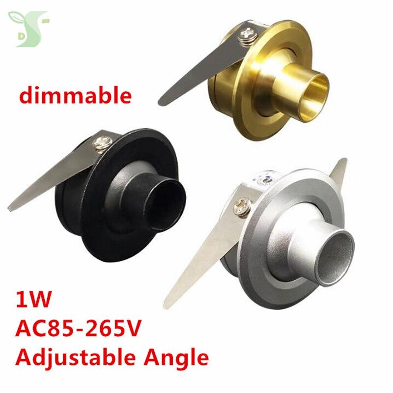 Adjustable Angle 1W Mini LED Star light led cabinet light mini led downlight 85-265v CE ROHS ceiling lamp 5pcs/lot free shipping