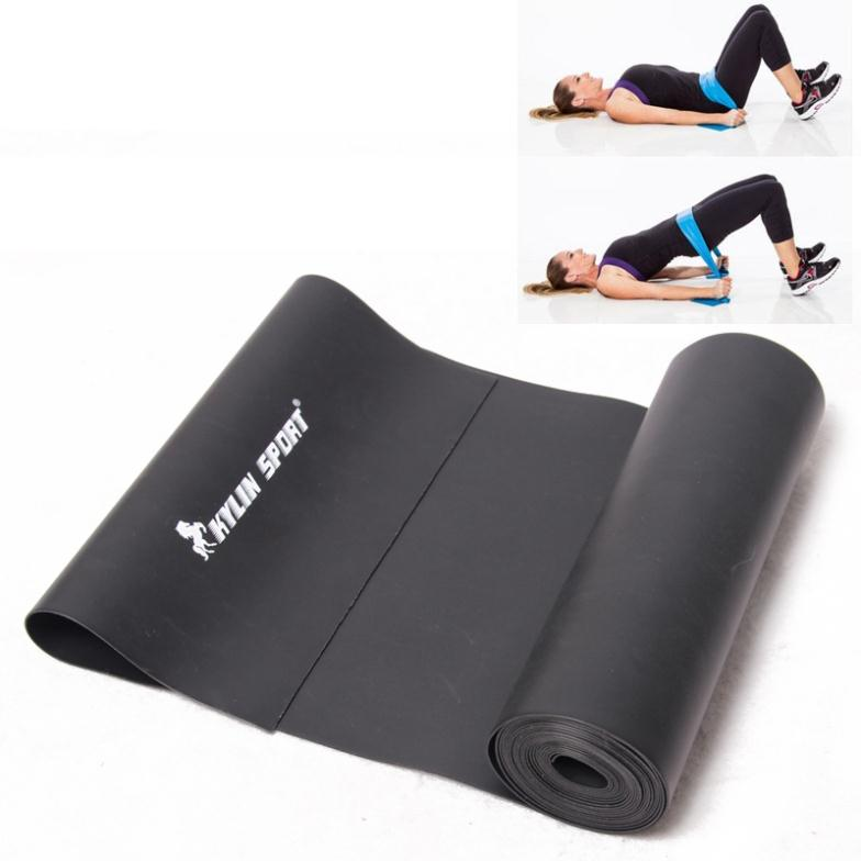2 m Yoga Pilates Borracha Estiramento Resistance Exercise Academia Banda esporte kylin Treinamento Preto para atacado e frete grátis