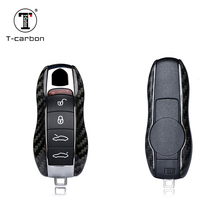100% Carbon Fiber Car Key Case Protective Shell Styling Bag Box For Porsche Cayenne Macan Cayman Boxster 911 стоимость