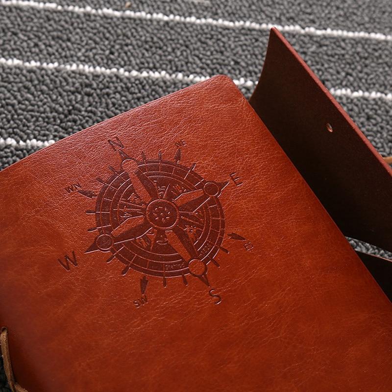 Hot sale läder journalen resenärer anteckningsbok vintage - Block och anteckningsböcker - Foto 4