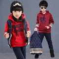 New Grils Boys Full Cotton Three-piece Suit Children Clothing Sleeve Winter Infant Fashion Leisure Sports Suit Kids Set