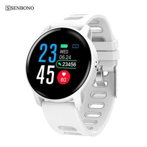 Image 1 - Senbono s08 ip68 à prova dip68 água relógio inteligente homem de fitness rastreador monitor de freqüência cardíaca smartwatch feminino para android ios telefone