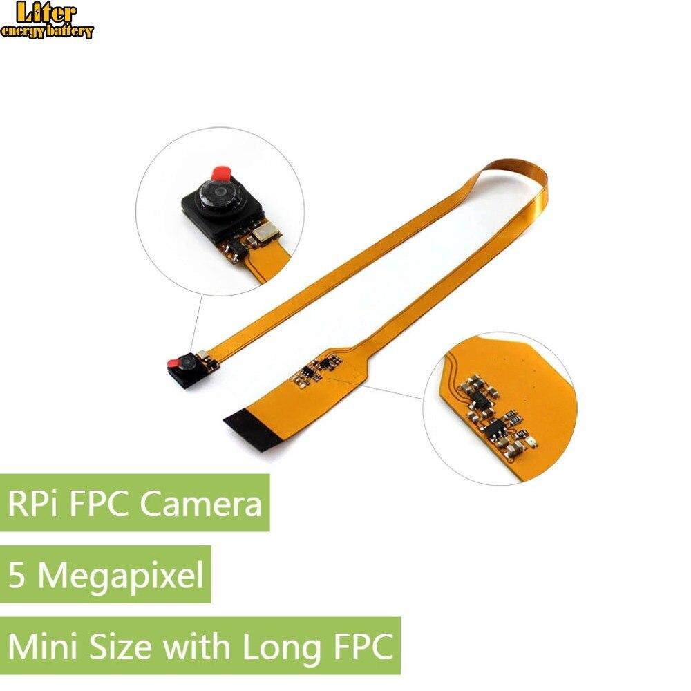 Waveshare Raspberry Pi Módulo Da Câmera, sensor de megapixel OV5647 5, suporta Raspberry Pi A +/B +/2B/3B/3B +, mini Tamanho com Longa FPC