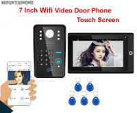 MOUNTAINONE High definition intelligent WIFInetwork wired 7video door phone w/t anti theft alarm ID card&Password Unlock Motion