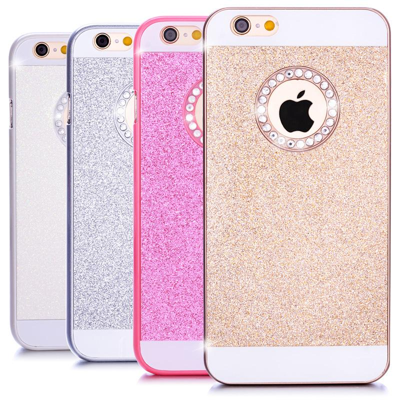 for iPhone 6s Case Luxury Bling Diamond Sparkle Glitter Crystal Hard Back Case Cover for Apple iPhone 6 6 Plus 5 5S